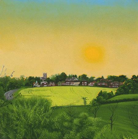 Sunset over Barwick in Elmet