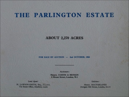 1964 Auction Sale Catalogue Cover