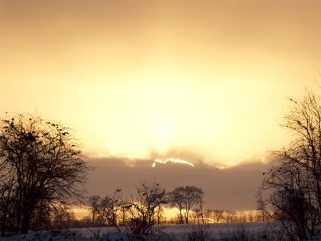 Sunrise at Parlington Saturday 9th January