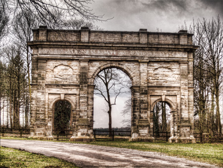 Grunge View of the Triumphal Arch