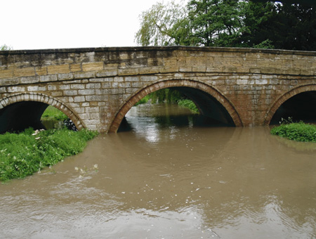Cock Beck in Aberford Overflowing